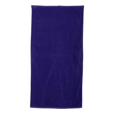 Monogrammed Beach Towel Color: Purple