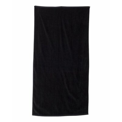 Monogrammed Beach Towel Color: Black