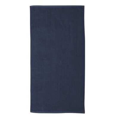 Monogrammed Beach Towel Color: Navy