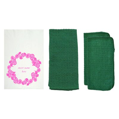 "Personalized ""Paisley"" Dishcloth Color: Hunter Green W85034+Hunter Green"