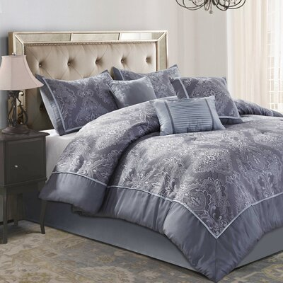 Bardot 7 Piece Comforter Set Size: Queen