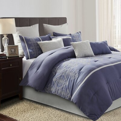 Audrey 10 Piece Comforter Set Size: King