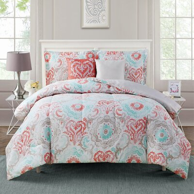 Starling 5 Piece Comforter Set Size: King