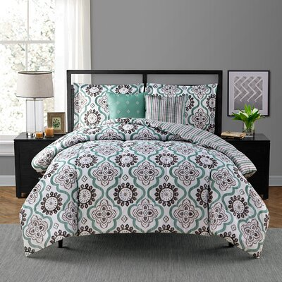 Tanya 5 Piece Comforter Set Size: King