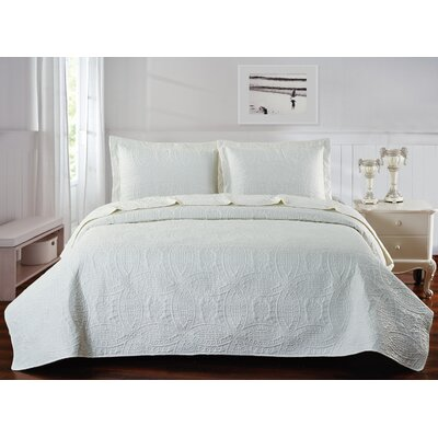 Classic Coverlet Set Color: Ivory, Size: King