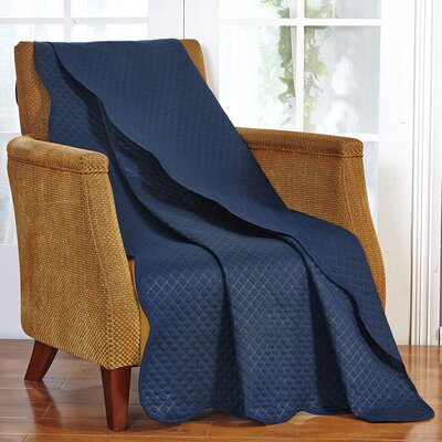 Classic Plaid Throw Blanket Color: Navy Blue