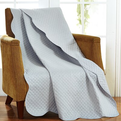 Classic Plaid Throw Blanket Color: Silver Gray