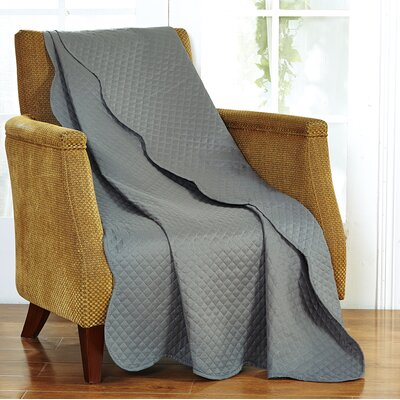 Classic Plaid Throw Blanket Color: Dark Gray
