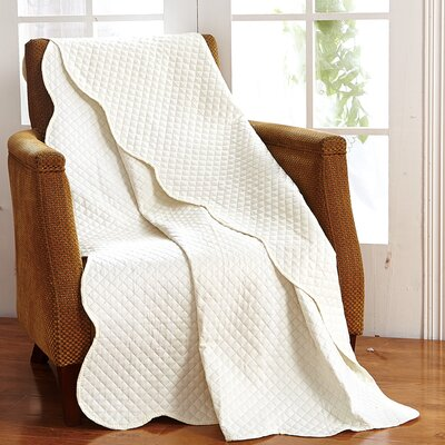 Classic Plaid Throw Blanket Color: Ivory