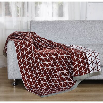 Knitted Throw Blanket Color: Red