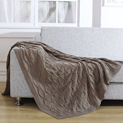Pleated Knitted Throw Blanket
