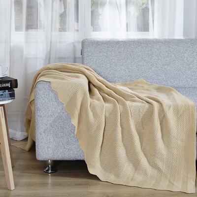 Twisted Throw Blanket Color: Soft Yellow