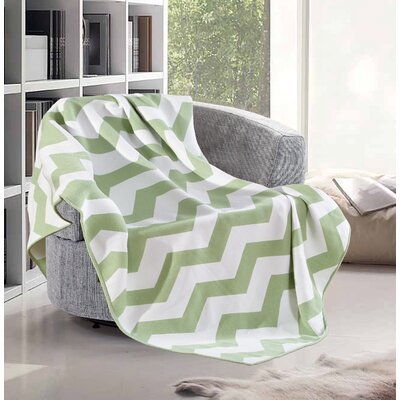 De Moocci Faux Cashmere Throw Color: Green