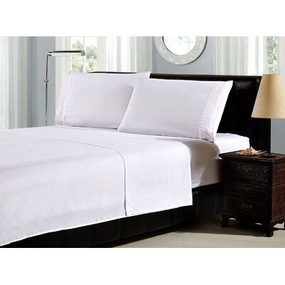 Leaf Embroidery 1800 Thread Count Ultra Soft Sheet Set Color: White, Size: California King