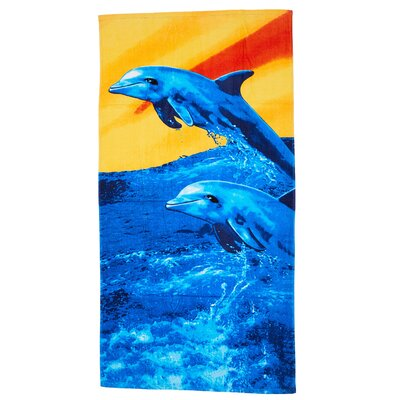 Ghag Sunset Dolphin Beach Towel