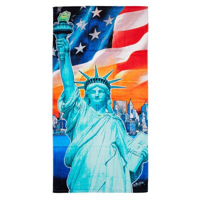 Wlosinska Statue of Liberty Beach Towel