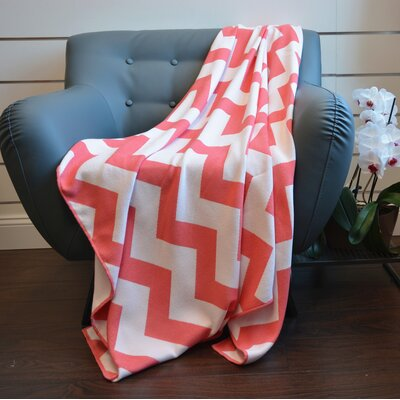 De Moocci Faux Cashmere Throw Color: Coral