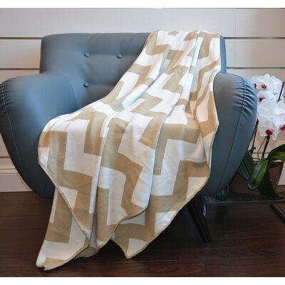 De Moocci Faux Cashmere Throw Color: Oatmeal