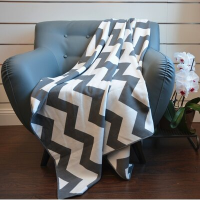 De Moocci Faux Cashmere Throw Color: Grey