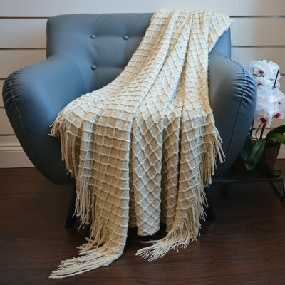 Highlands Diamond Knit Throw