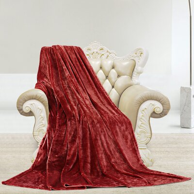 Silky Microlight Super Soft Luxury Blanket Size: Full/Queen, Color: Burgundy