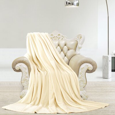 Silky Microlight Super Soft Luxury Blanket Size: Full/Queen, Color: Ivory