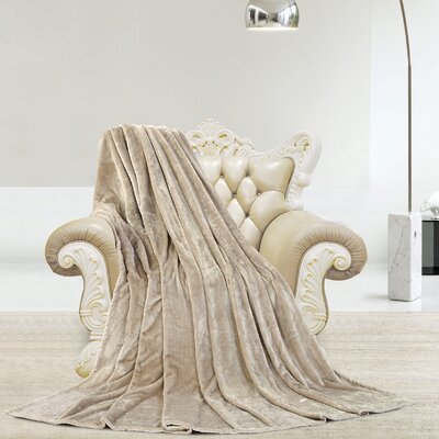 Silky Microlight Super Soft Luxury Blanket Size: Twin, Color: Linen