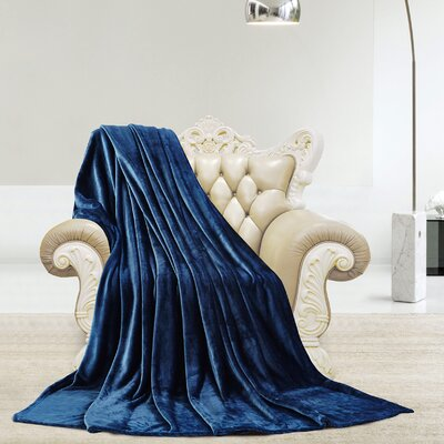 Silky Microlight Super Soft Luxury Blanket Size: Twin, Color: Royal Blue