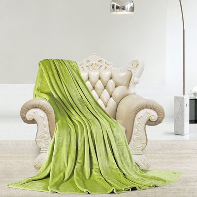 Silky Microlight Super Soft Luxury Blanket Size: King, Color: Sage