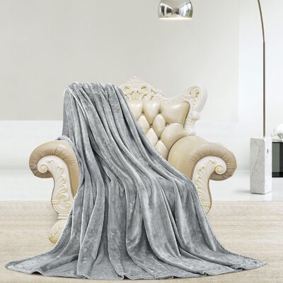 Silky Microlight Super Soft Luxury Blanket Size: Full/Queen, Color: Gray
