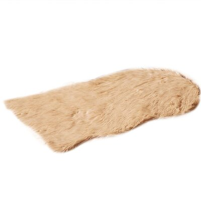 Faux Fur Camle Area Rug