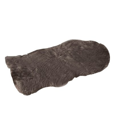 Faux Fur Brown Area Rug