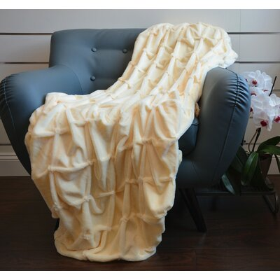 Plush Plaid Throw Blanket Color: Beige