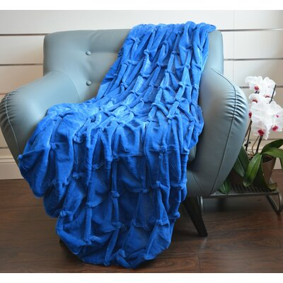 Plush Plaid Throw Blanket Color: Royal Blue