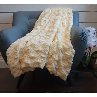 Plush Chunky Quilted Throw Blanket Color: Beige