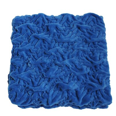 Plush Chunky Quilted Throw Blanket Color: Royal Blue