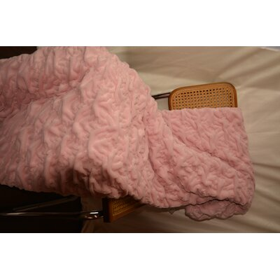 Plush Chunky Quilted Throw Blanket Color: Pink