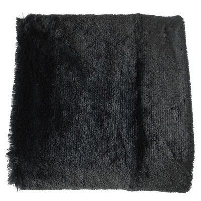 Canales Faux Long Fur Throw Blanket Color: Black