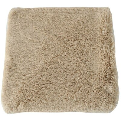 Faux Long Fur Throw Blanket Color: Camel