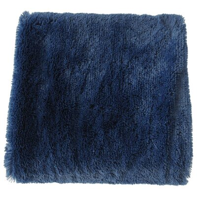 Canales Faux Long Fur Throw Blanket Color: Dark Blue