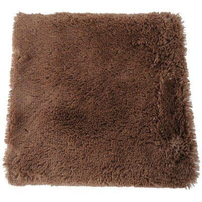 Faux Long Fur Throw Blanket Color: Coffee