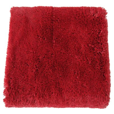 Canales Faux Long Fur Throw Blanket Color: Burgundy