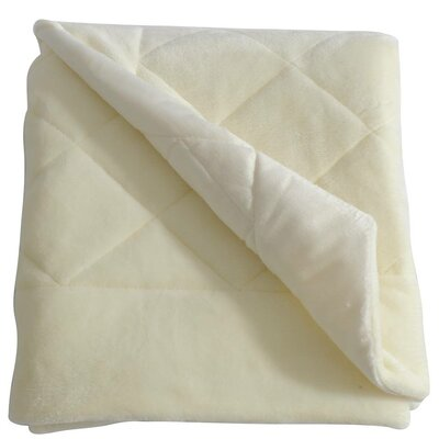 Velvet Quilted Throw Blanket Color: Cream