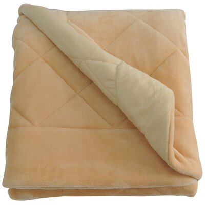 Velvet Quilted Throw Blanket Color: Camel