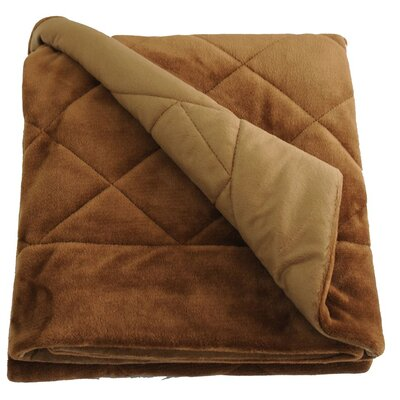 Velvet Quilted Throw Blanket Color: Coffee