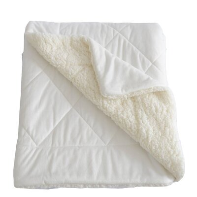 Micro-Mink Oversized Quilting Throw Blanket Color: White