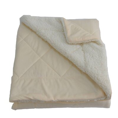 Candelaria Micro-Mink Oversized Quilting Throw Blanket Color: Beige