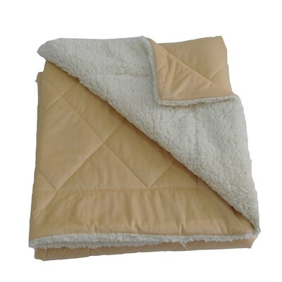 Candelaria Micro-Mink Oversized Quilting Throw Blanket Color: Camel