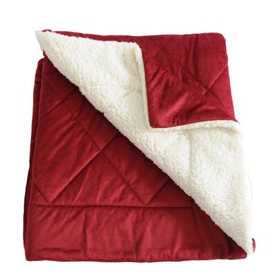 Micro-Mink Oversized Quilting Throw Blanket Color: Burgundy