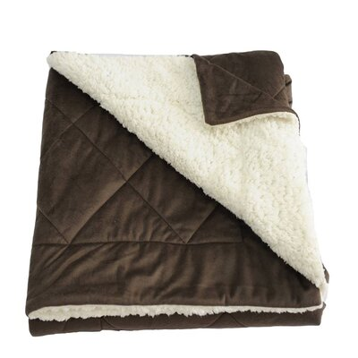 Candelaria Micro-Mink Oversized Quilting Throw Blanket Color: Dark Coffee